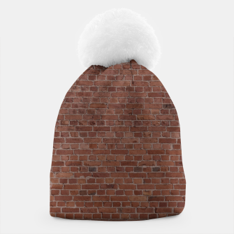 Thumbnail image of Brooklyn NYC Loft Appartment Brown Stone Brick Wall Beanie, Live Heroes