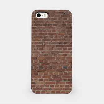 Miniatur NYC Big Apple Manhattan City Brown Stone Brick Wall iPhone Case, Live Heroes