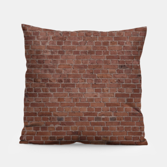 Thumbnail image of Brooklyn NYC Loft Appartment Brown Stone Brick Wall Pillow, Live Heroes