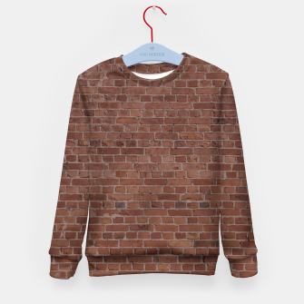 Thumbnail image of Brooklyn NYC Loft Appartment Brown Stone Brick Wall Kid's sweater, Live Heroes