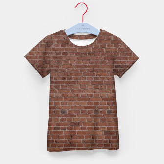 Thumbnail image of Brooklyn NYC Loft Appartment Brown Stone Brick Wall Kid's t-shirt, Live Heroes