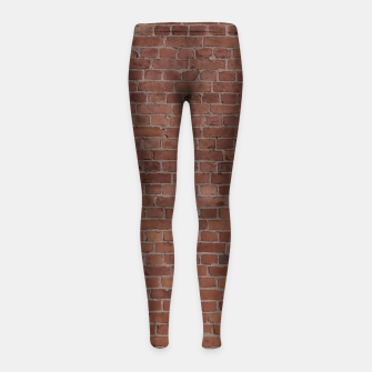 Thumbnail image of Brooklyn NYC Loft Appartment Brown Stone Brick Wall Girl's leggings, Live Heroes