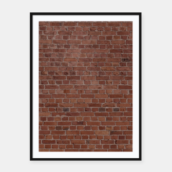 Thumbnail image of Brooklyn NYC Loft Appartment Brown Stone Brick Wall Framed poster, Live Heroes