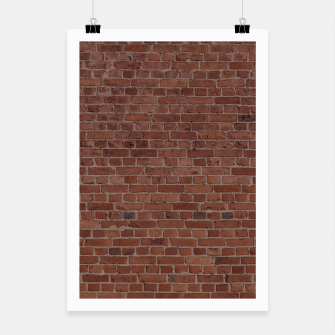 Thumbnail image of Brooklyn NYC Loft Appartment Brown Stone Brick Wall Poster, Live Heroes