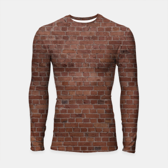 Thumbnail image of Brooklyn NYC Loft Appartment Brown Stone Brick Wall Longsleeve rashguard , Live Heroes