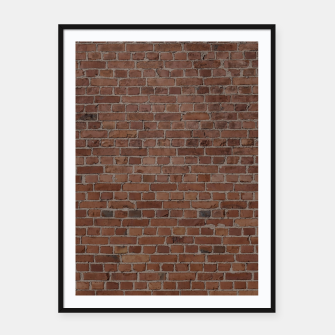 Miniaturka NYC Big Apple Manhattan City Brown Stone Brick Wall Framed poster, Live Heroes