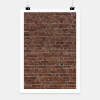 Miniatur NYC Big Apple Manhattan City Brown Stone Brick Wall Poster, Live Heroes