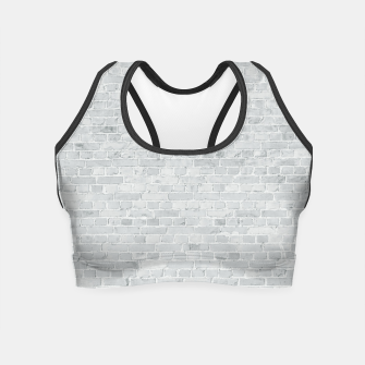 Miniatur Whitewashed Brick Wall - Light White Wash Stone Brick Crop Top, Live Heroes