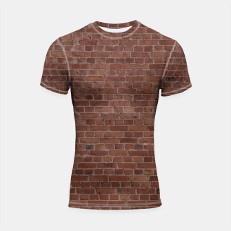 Thumbnail image of Brooklyn NYC Loft Appartment Brown Stone Brick Wall Shortsleeve rashguard, Live Heroes