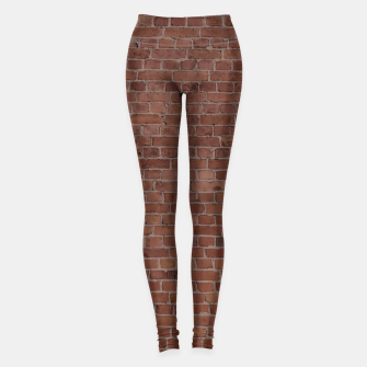 Thumbnail image of Brooklyn NYC Loft Appartment Brown Stone Brick Wall Leggings, Live Heroes