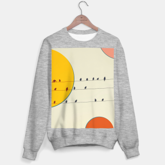 Miniatur Birds and wires 2 Sweater regular, Live Heroes