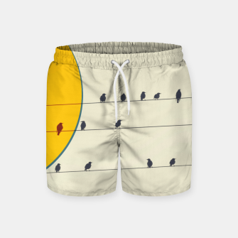 Miniatur Birds and wires 2 Swim Shorts, Live Heroes