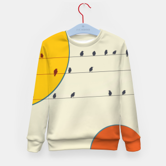 Miniatur Birds and wires 2 Kid's sweater, Live Heroes