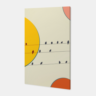 Miniatur Birds and wires 2 Canvas, Live Heroes