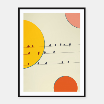 Miniatur Birds and wires 2 Framed poster, Live Heroes
