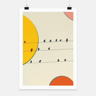 Miniatur Birds and wires 2 Poster, Live Heroes