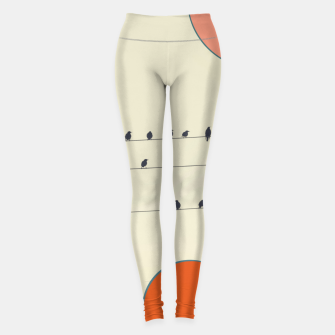 Miniatur Birds and wires 2 Leggings, Live Heroes