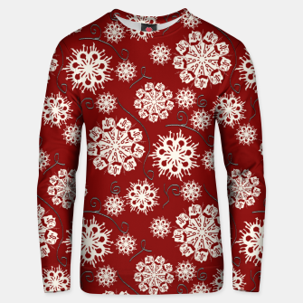 Thumbnail image of Snowflakes On Red Unisex sweater, Live Heroes