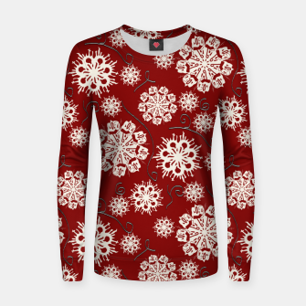 Imagen en miniatura de Snowflakes On Red Women sweater, Live Heroes