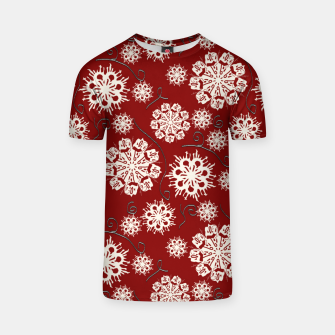Thumbnail image of Snowflakes On Red T-shirt, Live Heroes