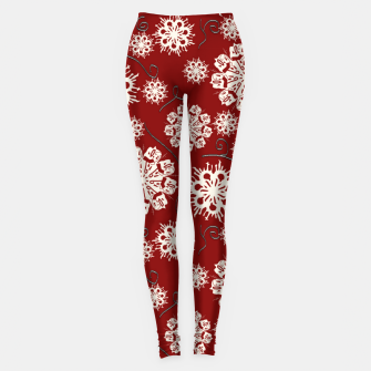 Thumbnail image of Snowflakes On Red Leggings, Live Heroes