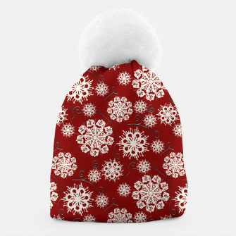 Thumbnail image of Snowflakes On Red Beanie, Live Heroes