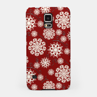 Thumbnail image of Snowflakes On Red Samsung Case, Live Heroes
