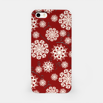 Thumbnail image of Snowflakes On Red iPhone Case, Live Heroes