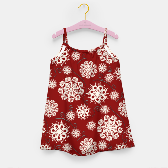 Thumbnail image of Snowflakes On Red Girl's dress, Live Heroes