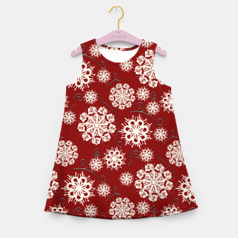 Thumbnail image of Snowflakes On Red Girl's summer dress, Live Heroes