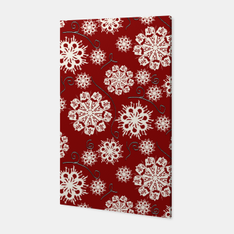 Thumbnail image of Snowflakes On Red Canvas, Live Heroes