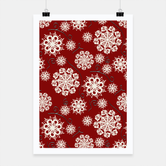 Thumbnail image of Snowflakes On Red Poster, Live Heroes