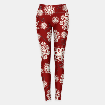 Imagen en miniatura de Snowflakes On Red Leggings, Live Heroes