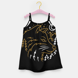 Miniatur Wolf Wild Girl's dress, Live Heroes