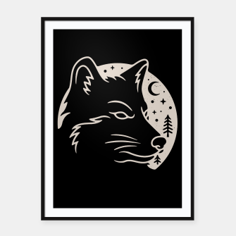 Miniatur Wolf Moon Framed poster, Live Heroes