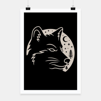 Miniatur Wolf Moon Poster, Live Heroes