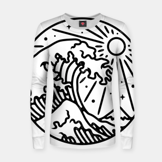 Thumbnail image of The Great Wave Women sweater, Live Heroes