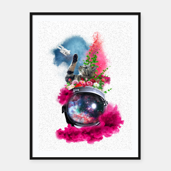Thumbnail image of Cat's Dream Framed poster, Live Heroes