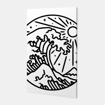 Thumbnail image of The Great Wave Canvas, Live Heroes