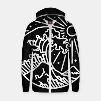 Thumbnail image of The Great Wave Zip up hoodie, Live Heroes