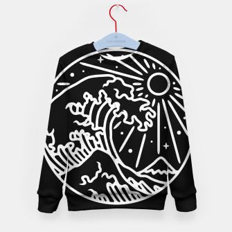 Thumbnail image of The Great Wave Kid's sweater, Live Heroes