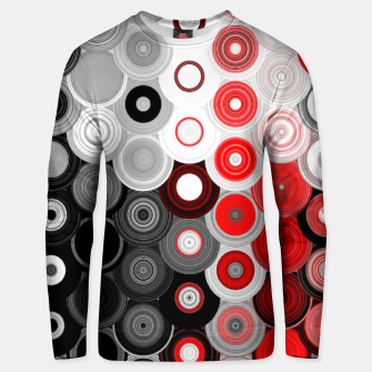 Thumbnail image of red black white silver grey abstract digital geometric art Unisex sweater, Live Heroes