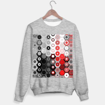 Thumbnail image of red black white silver grey abstract digital geometric art Sweater regular, Live Heroes