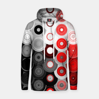 Thumbnail image of red black white silver grey abstract digital geometric art Hoodie, Live Heroes