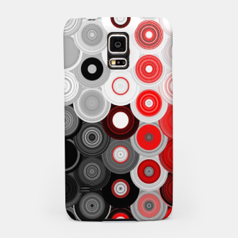 Thumbnail image of red black white silver grey abstract digital geometric art Samsung Case, Live Heroes