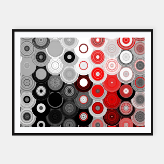Thumbnail image of red black white silver grey abstract digital geometric art Framed poster, Live Heroes