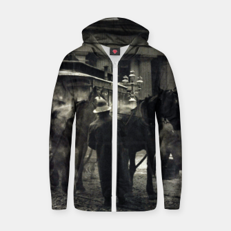 Thumbnail image of Photo of Alfred Stieglitz - The terminal 1892 Zip up hoodie, Live Heroes