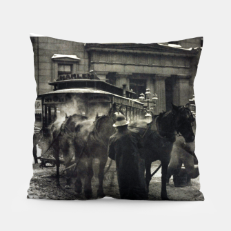 Thumbnail image of Photo of Alfred Stieglitz - The terminal 1892 Pillow, Live Heroes