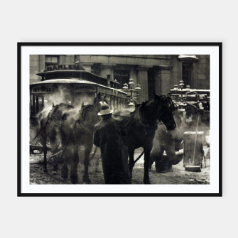 Thumbnail image of Photo of Alfred Stieglitz - The terminal 1892 Framed poster, Live Heroes