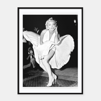 Thumbnail image of Photo of Marylin Monroe from the movie The seven year itch Framed poster, Live Heroes
